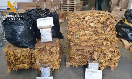 La Guardia Civil intercepta en Badajoz un transporte de 760 kilos tabaco de contrabando