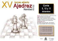 Coria dará comienzo este lunes a su programa deportivo de Navidad con el XV Torneo de Ajedrez
