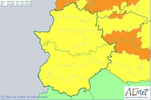 Los avisos amarillos por lluvia y viento se mantienen hoy  en toda Extremadura