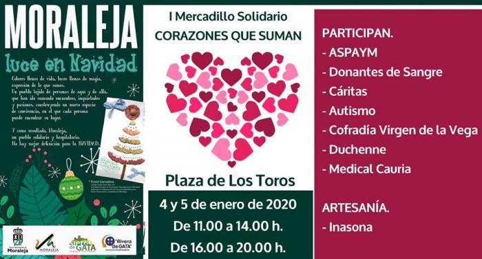 Moraleja acogerá este fin de semana el primer mercado solidario con la participación de ocho entidades