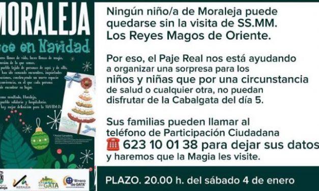 Moraleja inicia una campaña para que todos los niños puedan disfrutar de la visita de los Reyes