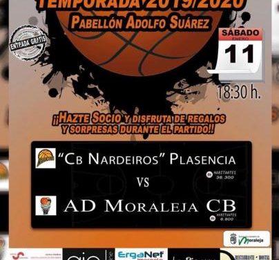 La AD Moraleja CB se enfrentará este sábado al Nardeiros de Plasencia en el Pabellón Adolfo Suárez