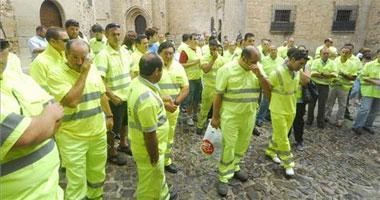 Medio centenar de trabajadores de conservación de carreteras demandan en Cáceres más seguridad