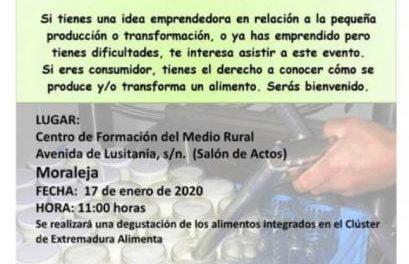 El Centro de Formación Rural de Moraleja acogerá este jueves una cita de artesanía alimentaria
