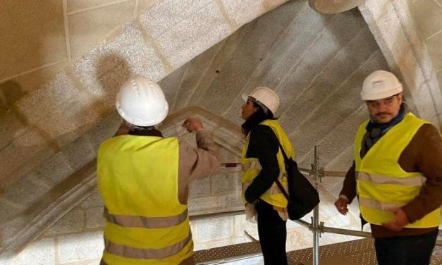 Las obras de la Catedral de Coria sacan a la luz los antiguos muros del templo primitivo del siglo XIII