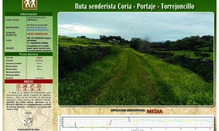 La Concejalía de Deportes de Coria inicia el calendario senderista con una ruta hasta Torrejoncillo