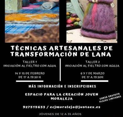 El Espacio Joven de Moraleja impartirá un taller de técnicas artesanales con lana durante febrero y marzo