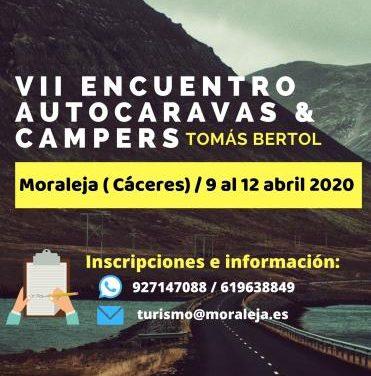 """El VII Encuentro de Autocaravanas """"Tomás Bertol"""" se celebrará del 9 al 12 de abril en Moraleja"""