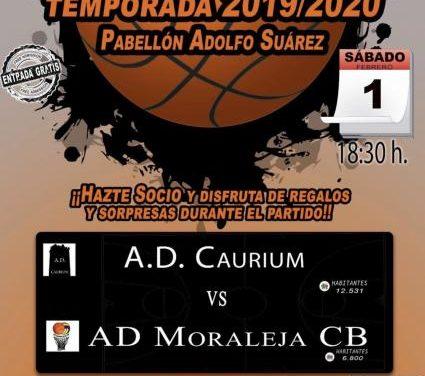 La AD Moraleja CB se enfrentará este sábado a la AD Caurium en el Pabellón Adolfo Suárez