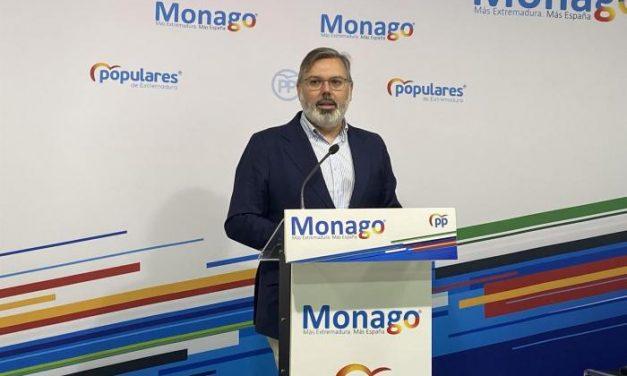 El PP de Extremadura critica la falta de apoyos del Gobierno central al campo extremeño