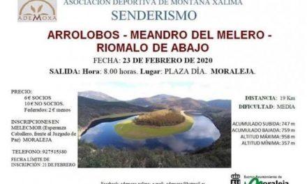 La Asociación Deportiva Ademoxa organiza una ruta senderista hasta el Meandro del Melero
