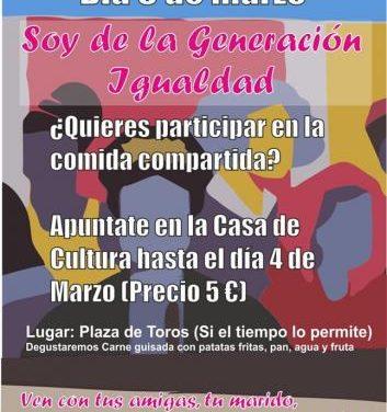 Continúa abierto el plazo de inscripción para participar en el encuentro de mujeres del 8 de marzo en Moraleja