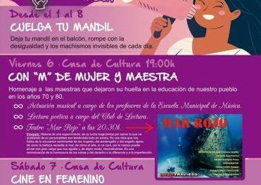 Moraleja celebrará este fin de semana el Día de la Mujer con actuaciones musicales, teatro, cine y encuentros
