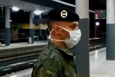 La Unidad Militar de Emergencias controla puntos críticos y vigila zonas de Badajoz