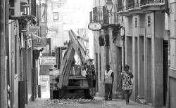 El Ayuntamiento de Plasencia comienza la obra para la renovación de la calle de los Quesos