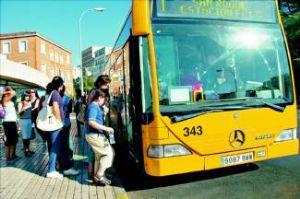 El autobús urbano será gratuito el próximo lunes durante toda la tarde en la ciudad de Badajoz