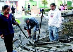 Identifican a los autores del fuego de la feria de artesanía de San Vicente que causó quemaduras a una persona