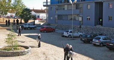 Los antidisturbios cercan la barriada Los Colorines y registran un piso en un operativo antidroga