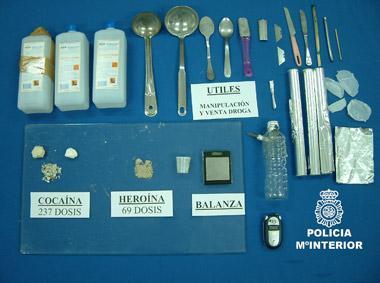 La Policía Nacional de Badajoz detiene a cuatro personas por tráfico de drogas