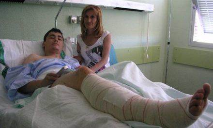 El recortador Guillermo Martín se recupera de la cornada que sufrió el viernes