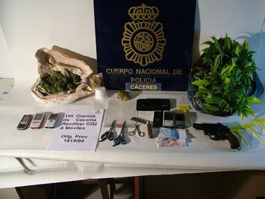 Detenidas seis personas en Cáceres y Madrid en una operación contre el tráfico de drogas