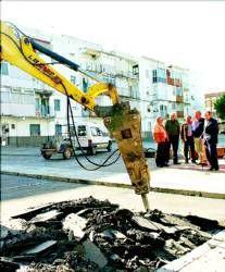 Empieza la obra de reforma de la plaza del Ahorro, tras varios años de demanda de los vecinos de Plasencia