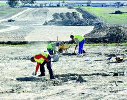 Hallado un nuevo yacimiento arqueológico en las obras del AVE cerca de la capital cacereña