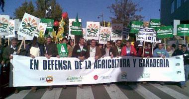 Agricultores y ganaderos se manifiestan en Mérida en demanda de una ley de márgenes comerciales