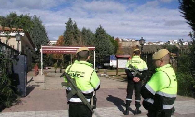 300 militares de la Unidad Militar de Emergencias, de Madrid, realizan prácticas en Coria hasta el viernes