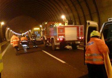 Cortan los túneles de Miravete en ambos sentidos para realizar un simulacro de emergencia