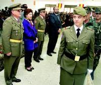 La base Santa Ana en Cáceres celebró ayer la fiesta de la patrona de Infantería, la Inmaculada Concepción