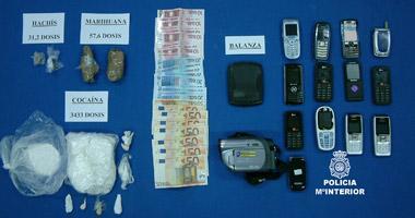 La Policía Nacional desarticula una banda organizada que introducía cocaína en Extremadura