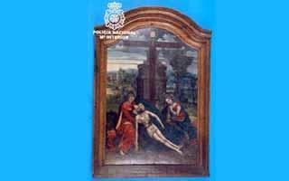 La Policía Nacional recupera la tabla flamenca del siglo XV robada de la iglesia de San Martín de Trujillo