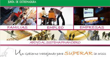 La Junta de Extremadura propone en un portal de internet medidas para afrontar la crisis