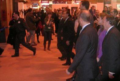 Los Príncipes de Asturias visitan el pabellón de Extremadura en Fitur y valoran los datos positivos