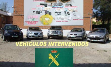 La Guardia Civil desarticula una red de traficantes que operaba en el norte de la provincia de Cáceres