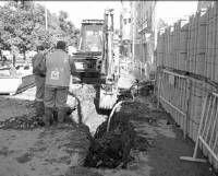 La rotura de dos tuberías deja sin agua a varias calles de Almendralejo durante unas diez horas