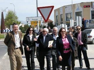 Empresarios del polígono Martín Palomino de Plasencia proponen eliminar barreras físicas en la vía
