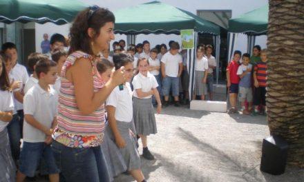 """Zaragata finaliza su programa """"Maletas viajeras"""" con los alumnos de los colegios de Miajadas y de la comarca"""