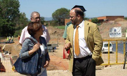 Las obras de construcción del nuevo puente de Moraleja en la Rivera de Gata podrían terminar antes de los previsto