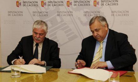 La Diputación firma un convenio para el desarrollo de actividades y asistencia técnica en temas europeos