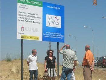 La Consejería de Cultura presenta la recuperación del yacimiento de Huerta Montero en Almendralejo