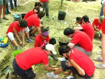 Encuentran dos fosas con restos de cuerpos humanos en el campo de trabajo joven del municipio de Escurial