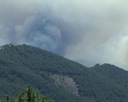 Vara apunta la probabilidad de que el incendio que ha afectado a la zona de Las Hurdes sea provocado