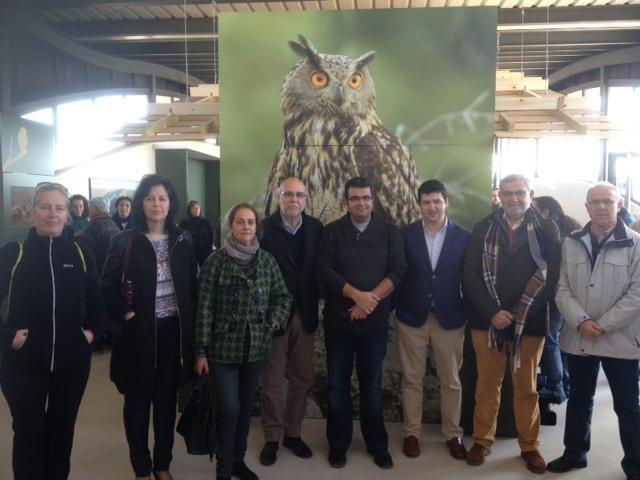 El consejero de Agricultura inaugura el Centro de Información de Ornitología de Monfragüe