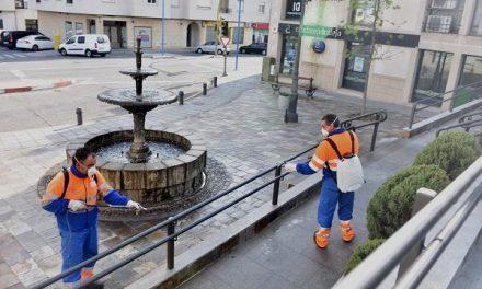 El Ayuntamiento de Coria continúa con la desinfección de calles y espacios públicos con fondos propios