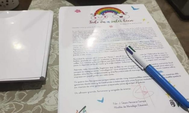 Si eres niño y abres una carta del Ayuntamiento de Moraleja lee bien el mensaje, tú eres de gran ayuda