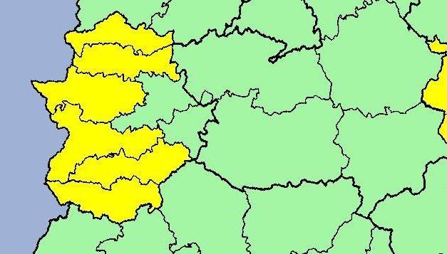 Las zonas del Tajo y el Alagón están en alerta amarilla por tormentas hasta las 22:00 horas