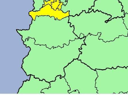 El norte de la provincia de Cáceres permanecerá en alerta esta madrugada por lluvias