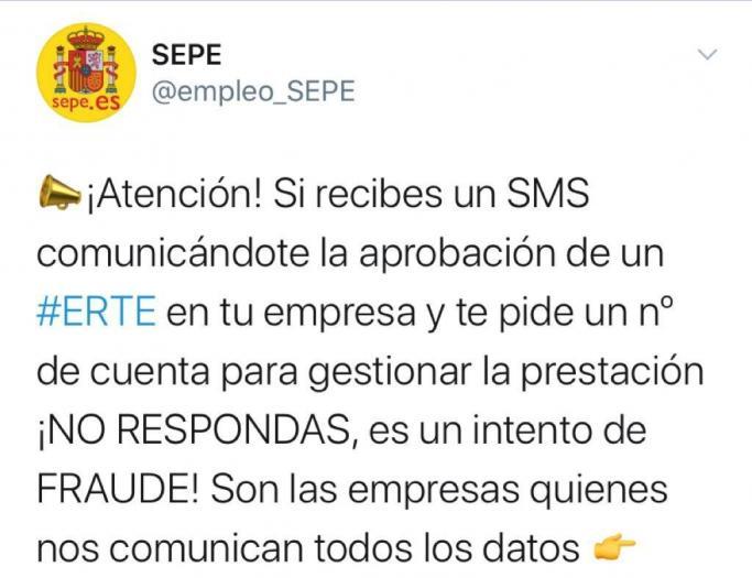 Alertan de una estafa mediante SMS que pide un número de cuenta para ingresar prestaciones